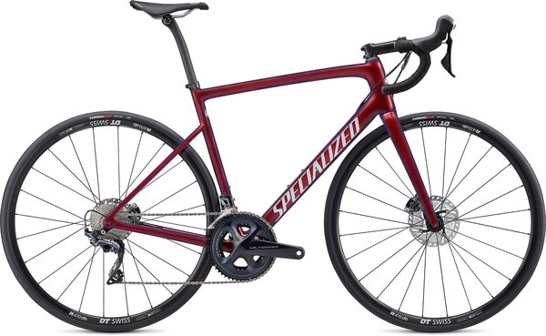 Specialized Tarmac SL6 Comp Disc Color: Gloss Cast Berry/Metallic Crimson