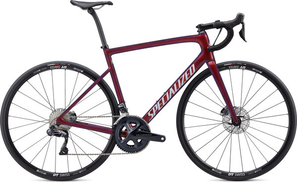 Specialized Tarmac Disc Comp - Ultegra Di2 Color: Gloss Cast Berry/Metallic Crimson