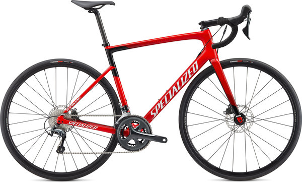 Specialized Tarmac Disc Color: Gloss Flo Red/Metallic White Silver