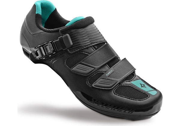 Specialized Torch Road Shoes - Women's Color: Black/Emerald Green Reflective