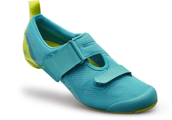 Specialized Trivent SC Shoes Color: Turquoise/Hyper Green