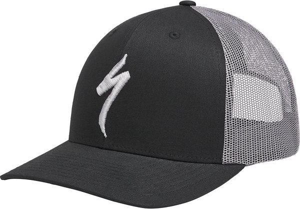Specialized FlexFit Trucker Snapback Hat Color: S Black/Charcoal