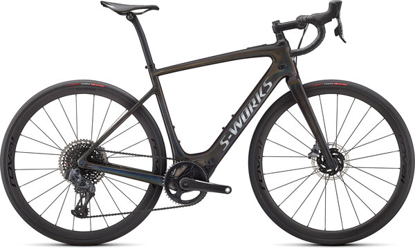 Specialized Turbo Creo SL S-Works Carbon Color: Black Tint - Spectraflair/Satin Black/Chrome