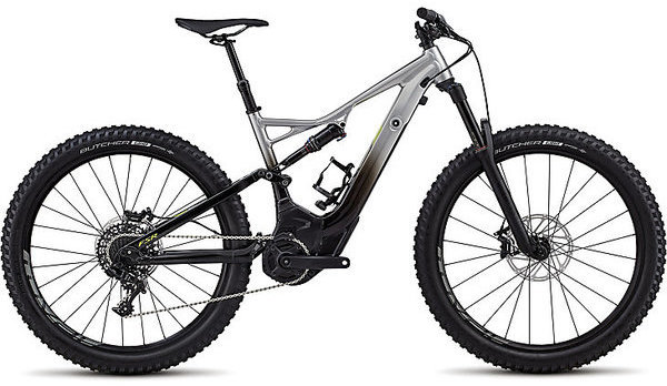 Specialized Turbo Levo Men's FSR Comp 6Fattie/29 Color: Flake Silver Fade/Black/Hyper
