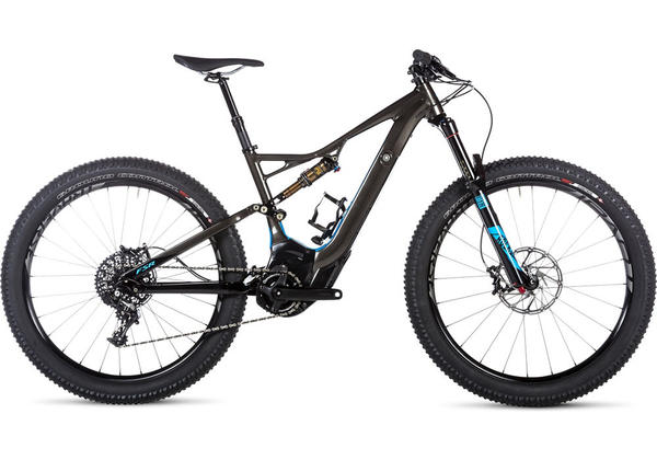 Specialized Turbo FSR Expert 6Fattie Color: Gloss Warm Charcoal/Cyan