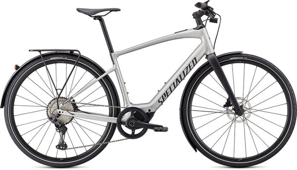 Specialized Turbo Vado SL 5.0 EQ Color: Brushed Aluminum/Black Reflective