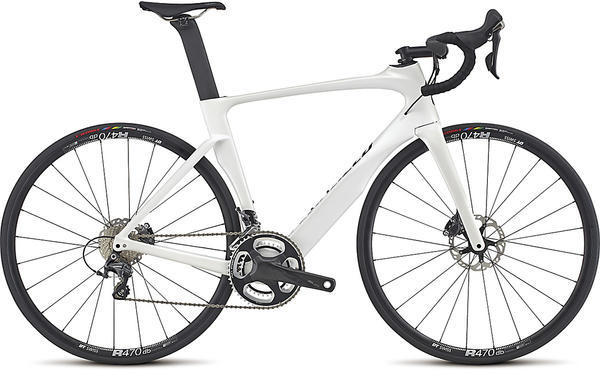 Specialized Venge ViAS Expert Disc Ultegra Color: Gloss Metallic White/Tarmac Black/Clean