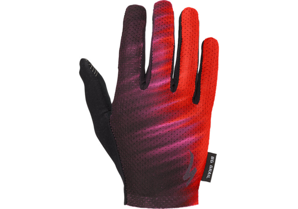 Specialized Women's Body Geometry Grail Long Finger Gloves Color: Acid Lava/Black Faze
