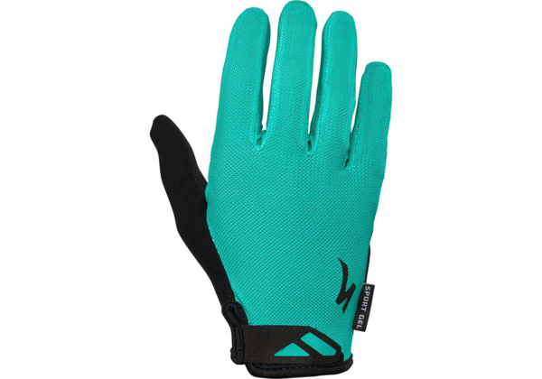 Specialized Women's Body Geometry Sport Gel Long Finger Gloves Color: Acid Mint