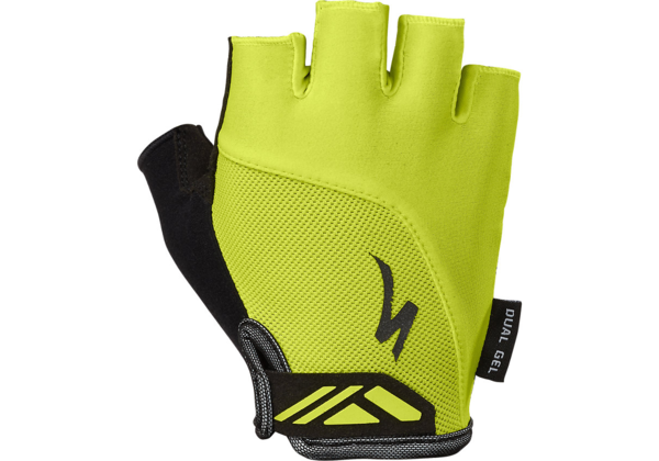 Specialized Women's Body Geometry Dual Gel Gloves Color: Hyper Green