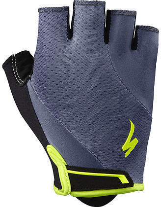 Specialized Women's Body Geometry Gel Gloves (12/7) Color: Carbon Grey/Neon Yellow