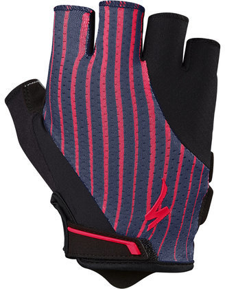 Specialized Women's Body Geometry Gel Gloves Color: Acid Red/Line Fade