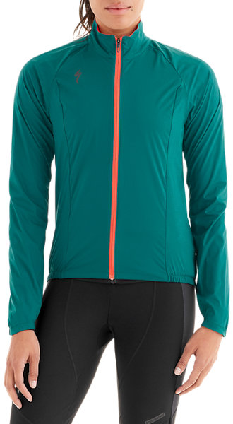 Specialized Women's Deflect Wind Jacket Color: Black Teal