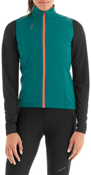 Specialized Women's Deflect Wind Vest Color: Black Teal