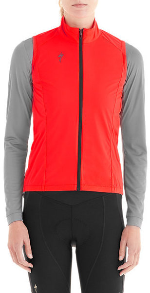 Specialized Women's Deflect Wind Vest Color: Rocket Red