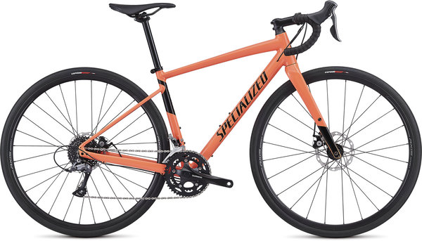 Specialized Women's Diverge E5 Color: Gloss Acid Lava/Black