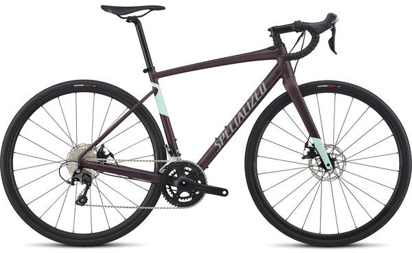 Specialized Women's Diverge E5 Comp Color: Satin Cast Berry/Mint