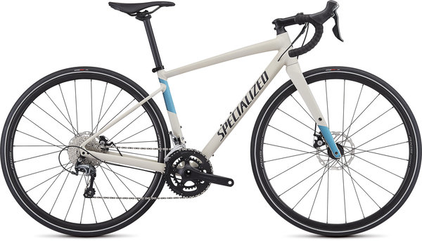 Specialized Women's Diverge E5 Elite Color: White Mountains/Tropical Teal-Nice Blue/Black
