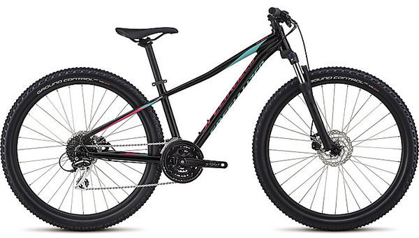Specialized Women's Pitch Sport 27.5 Color: Gloss Tarmac Black/Acid Mint/Acid Pink Reflective