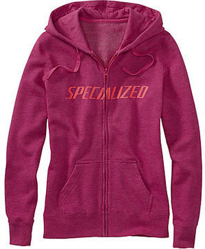 Specialized Women's Podium Hoodie Color: Berry/Acid Red