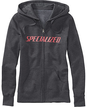 Specialized Women's Podium Hoodie Color: Carbon/Acid Red