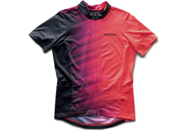 Specialized Women's RBX Jersey w/SWAT Color: Acid Lava/Black Faze