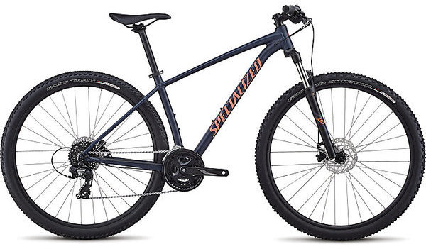 Specialized Women's Rockhopper Color: Satin Gloss Cast Blue/Acid Lava