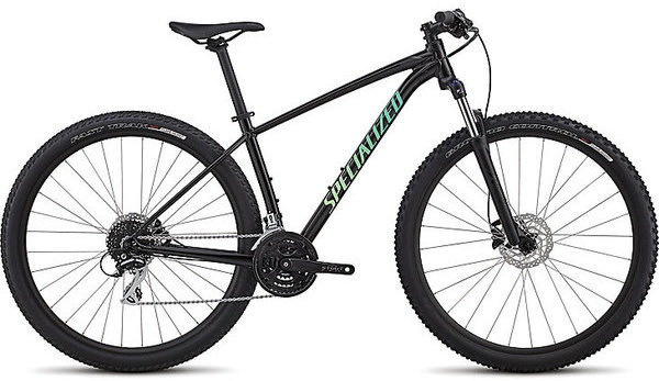 Specialized Women's Rockhopper Sport Color: Gloss Satin Tarmac Black/Cali Fade/Black