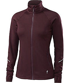 Specialized Shasta Track Jacket Color: Black Ruby Heather