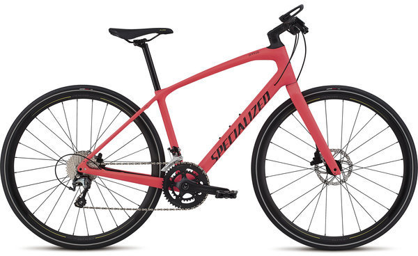 Specialized Women's Sirrus Elite Carbon Color: Acid Red/Limon/Black/Floral