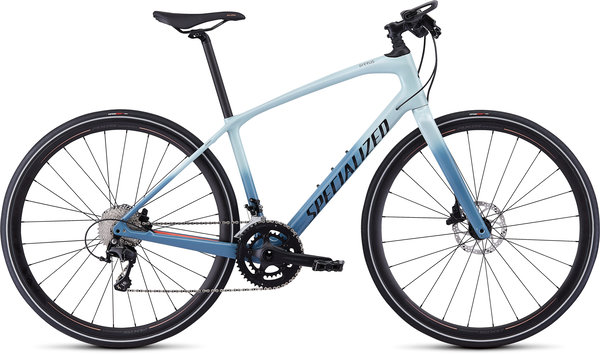 Specialized Women's Sirrus Expert Carbon Color: Gloss Ice Blue-Storm Grey/Acid Lava