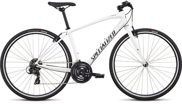 Specialized Women's Sirrus - V-Brake Color: Metallic White/Tarmac Black/Floral