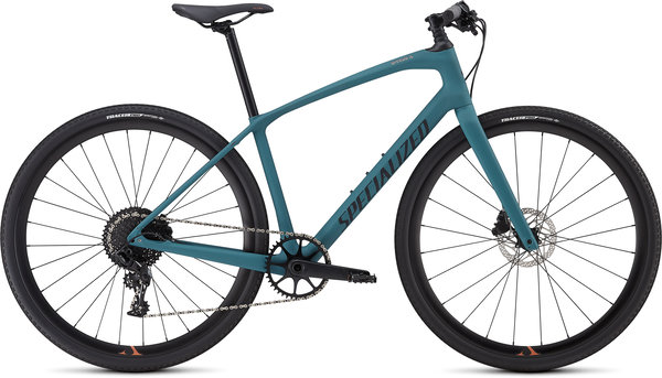 Specialized Women's Sirrus X Comp Carbon Color: Satin Dusty Turquoise/Copper/Black Reflective