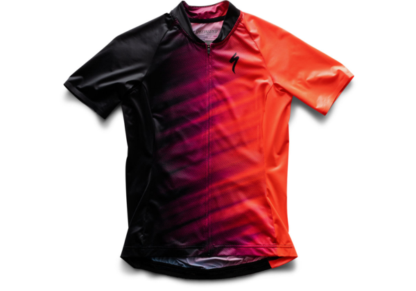 Specialized Women's SL Air Jersey Color: Acid Lava/Black Faze