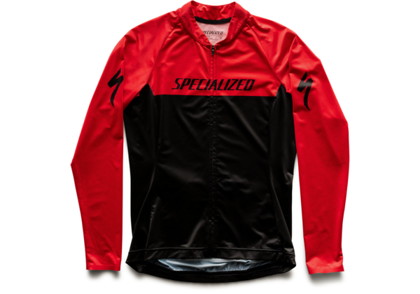 Specialized Women's SL Air Long Sleeve Jersey Color: Black/Red Team