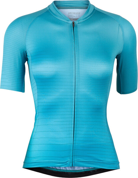 Specialized Women's SL Air Short Sleeve Jersey Color: Dusty Turquoise/Aqua Arrow