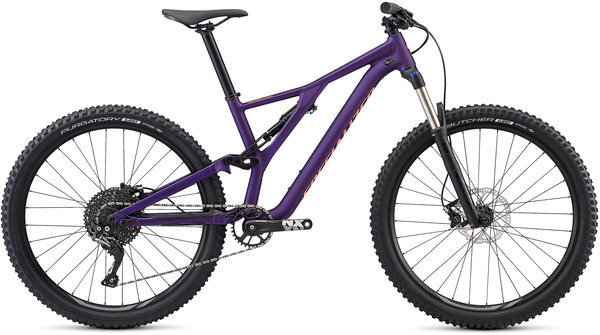 Specialized Women's Stumpjumper ST Alloy 27.5 Color: Plum Purple/Acid Lava