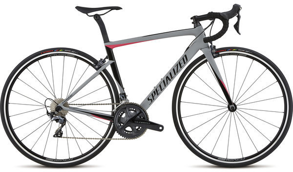 Specialized Women's Tarmac Expert Color: Satin/Gloss/Cool Gray/Acid Pink/Black