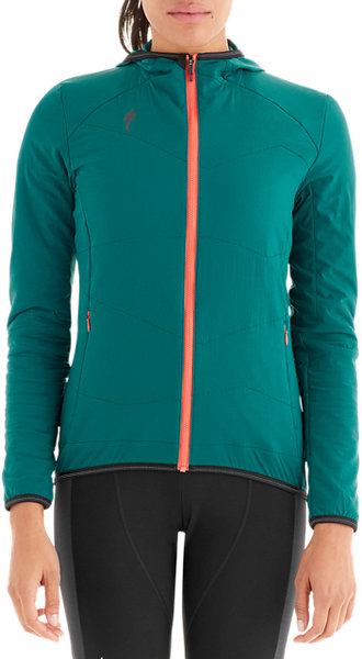 Specialized Women's Therminal Alpha Jacket Color: Black Teal