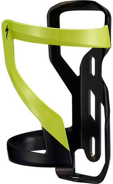 Specialized Zee Cage II - Left Color: Matte Black/Hyper Green