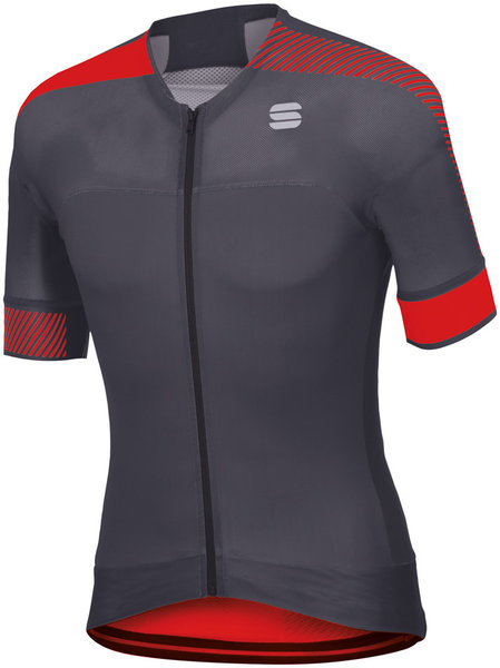 Sportful Bodyfit Pro Evo Jersey Color: Anthracite/Red