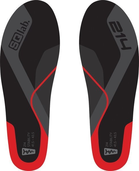 SQlab Insole Model: 214 Red Low Arch