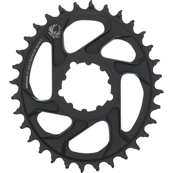 SRAM Eagle X-Sync 2 Direct Mount Oval Chainring Color | Offset | Size | Speeds: Black | 6mm | 32T | 10/11/12-speed