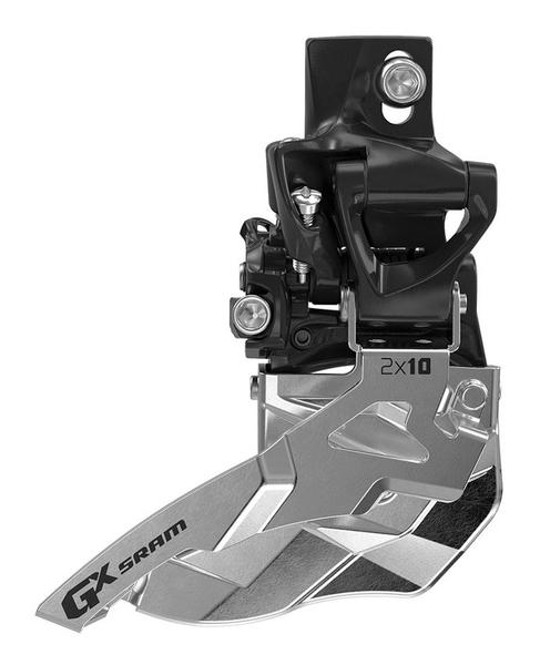 SRAM GX 2x10 Front Derailleur<br>(High Direct-mount, Top-pull) Image may differ.