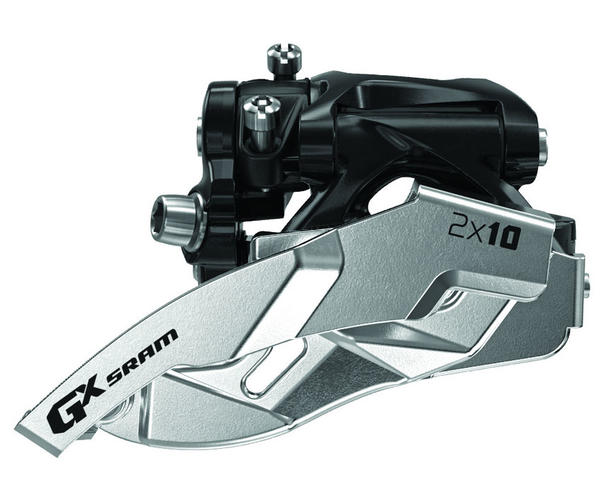 SRAM GX 2x10 Front Derailleur<br>(Low-clamp, Dual-pull) Model: Low-clamp
