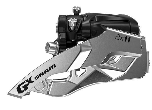 SRAM GX 2x11 Front Derailleur<br>(Low-clamp, Bottom-pull) Image may differ.