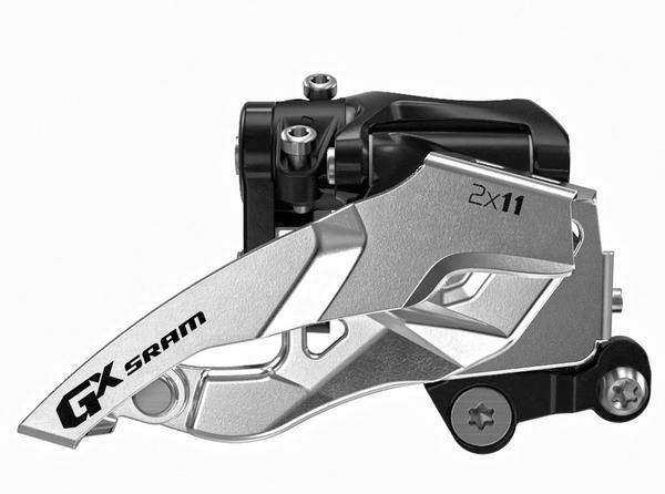 SRAM GX 2x11 Front Derailleur<br>(Low Direct-mount, Top-pull) Price listed is for derailleur as defined in Description (image may differ).