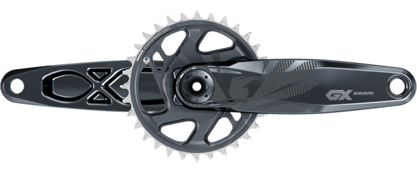 SRAM GX Eagle SuperBoost+ DUB Crankset Color: Lunar Grey