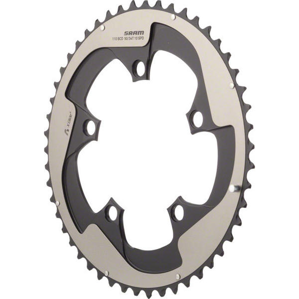 SRAM Red Yaw Non-Hidden Bolt Outer Chainring BCD | Color | Size | Speeds: 130mm | Gray | 50T | 10-speed