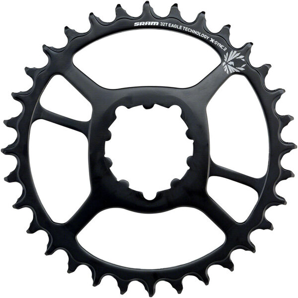 SRAM X-Sync 2 Eagle Direct Mount Chainring Color: Black